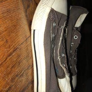 Kids slip on Converse sneakers